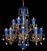 Подвесная люстра Голубой Preciosa Standart AB 1085/02/012 (15 1085 012 07 82 00 35)