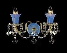 Бра Голубой с золотом Preciosa Standart WB 1085/02/002 (25 1085 002 07 82 00 35)