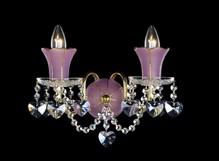 Бра Розовый с золотом Preciosa Standart WB 1085/02/002 (25 1085 002 07 83 00 35)