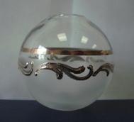 колба малая с серебряным рисунком №12