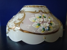 чашка смальта бело-розовая №13