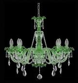 Подвесная люстра Зеленый Elite Bohemia Standart L 550/6/35