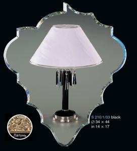 Настольная лампа Хрусталь Elite Bohemia Standart S 210/1/03 Black