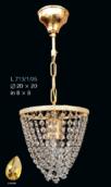 Подвесная люстра Amber Elite Bohemia Standart L 713/1/05-2 Amber