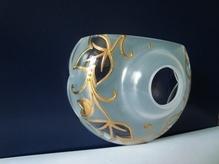 чашка с золотым рисунком №3