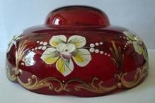 чашка смальта красная №33