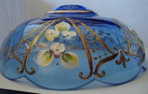 чашка смальта голубая №35