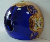 чашка смальта синяя с сеткой №55