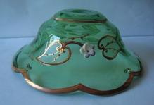 чашка смальта зеленая (прозрачная) №57