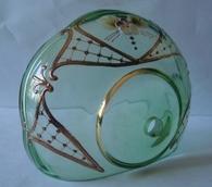 чашка смальта зеленая (прозрачная) №58
