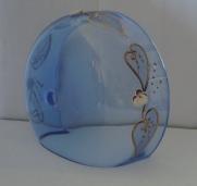 чашка смальта синяя (прозрачная) №64