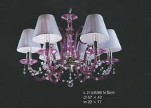 Подвесная люстра Розовый  Elite Bohemia Standart L 214/6/89 N Sirm