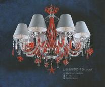 Подвесная люстра Хрусталь Elite Bohemia Standart L 418/8/703-7 S coral