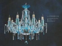 Подвесная люстра Голубая Elite Bohemia Standart L 419/8/303-3 N