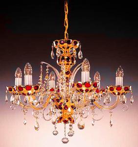 Подвесная люстра  красный с золотом Elite Bohemia Standart L 542/6/37
