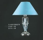 Настольная лампа Голубой Elite Bohemia Standart S 418/1/303/2N