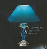 Настольная лампа Голубая Elite Bohemia Standart S418/1/303/3  fish