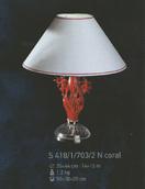 Настольная лампа Хрусталь Elite Bohemia Standart S 418/1/703/2  coral