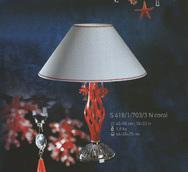 Настольная лампа Хрусталь Elite Bohemia Standart S 418/1/703/3  coral