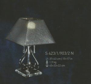 Настольная лампа Хрусталь Elite Bohemia Standart S 423/1/903/2