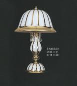 Настольная лампа Белый с золотом Elite Bohemia Standart S540/3/31
